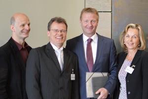 Stefan Zimkeit MdL, Bürgermeister Michael Heidinger, Minister Ralf Jäger MdL, Dezernentin Christa Jahnke-Horstmann.