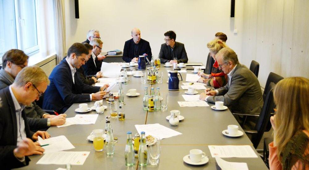 Pressegespräch im Landtag