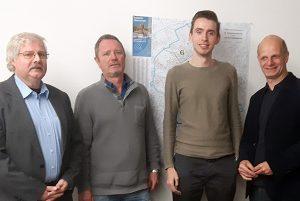 Thomas Klüh, Jörg Heinemann, Fabian Erstfeld und Stefan Zimkeit MdL.