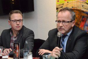 Hans Benedikt Orta und Stefan Ventzke (DB Netze).